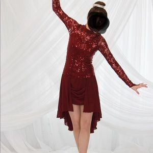 Burgundy Weissman dress